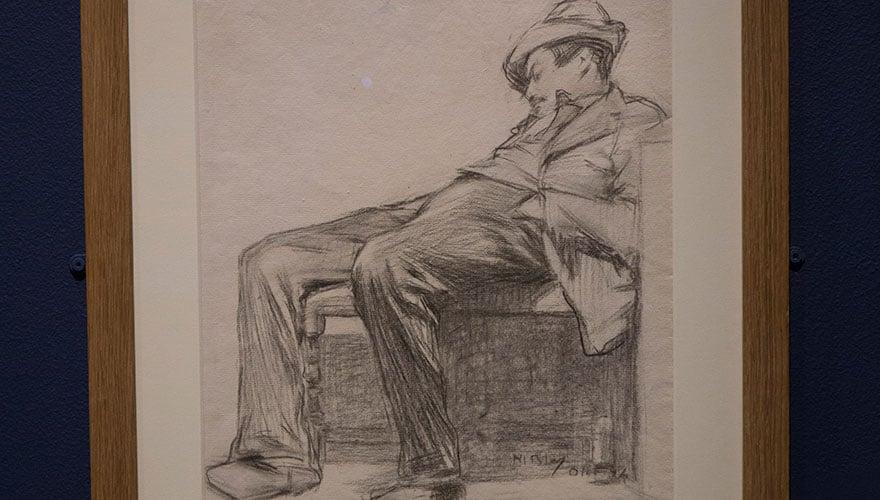 Apunte de un hombre dormido