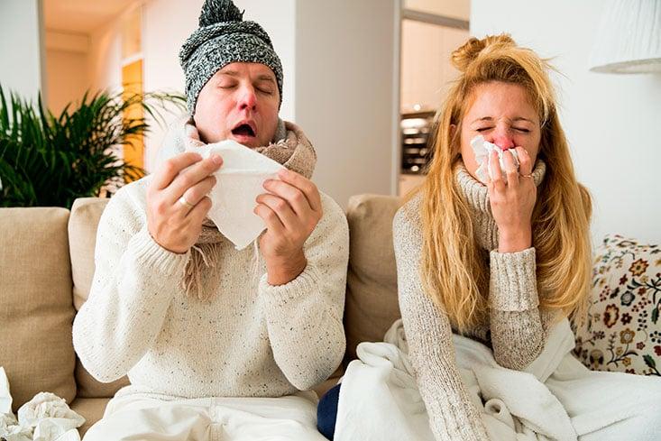 Pautas para no caer resfriado continuamente