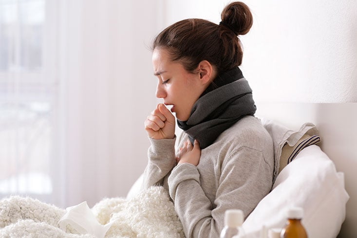 no puedo respirar bien por la gripe