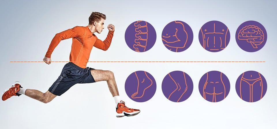 Piernas y musculares muslo gluteos espasmos