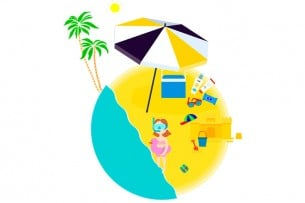 """El """"Kit"""" imprescindible para un día de playa con niños"""