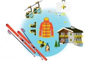 El kit de esquí recomendable para novatos
