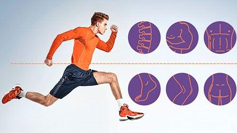 ¿Qué partes del cuerpo trabajan más cuando corro?