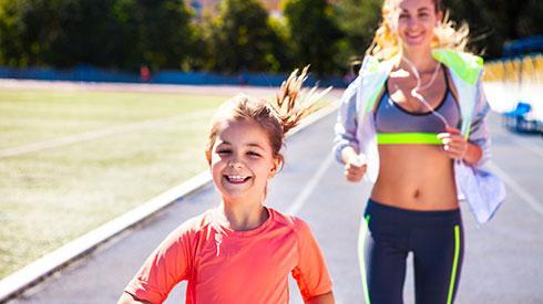 El placer de correr con tus hijos