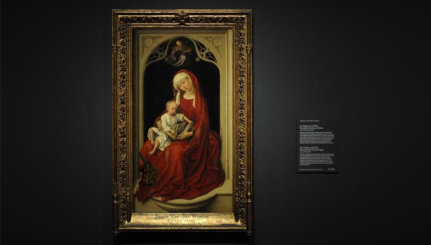 1475-1485: La Crucifixión. Maestro de la Leyenda de Santa Catalina. Óleo sobre tabla de roble. Museo Nacional del Prado