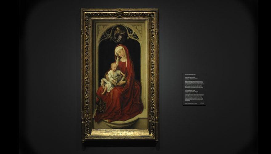 1435 - 1438: Óleo sobre tabla de roble. Museo Nacional del Prado