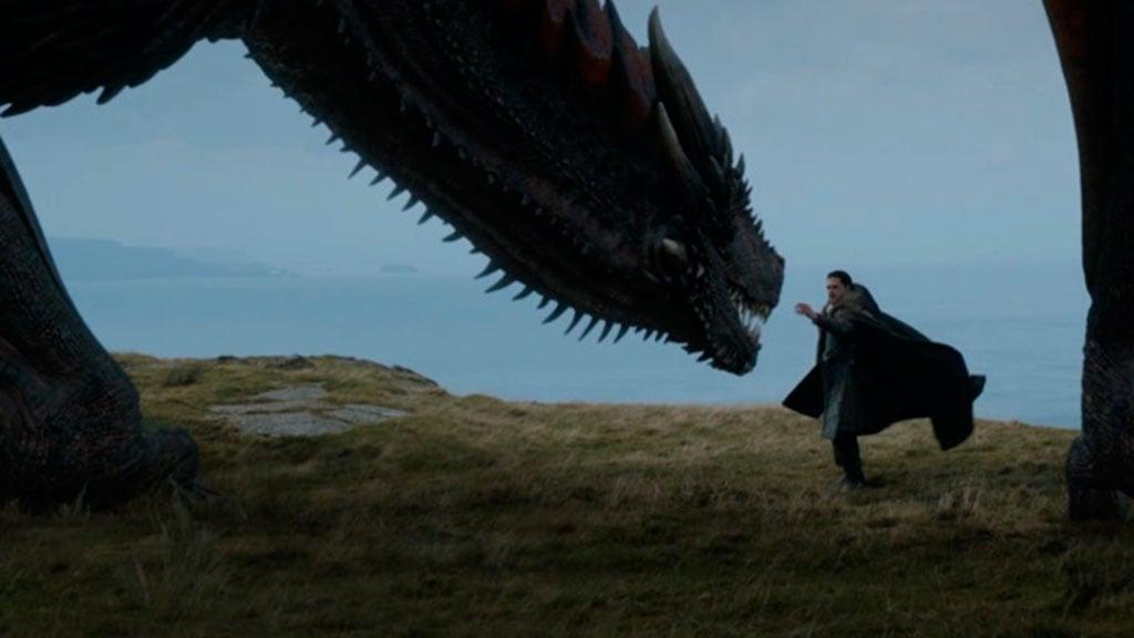 Así se hizo el encuentro entre Jon Snow y Drogon