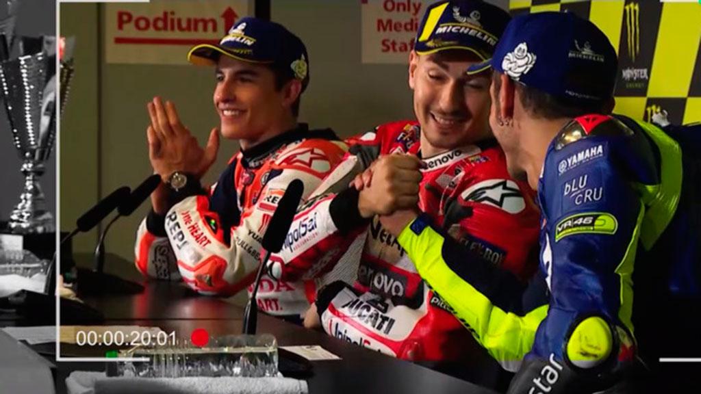 El buen rollo entre Lorenzo y Rossi