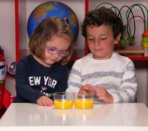 El experimento del zumo: cómo perciben los niños las cantidades