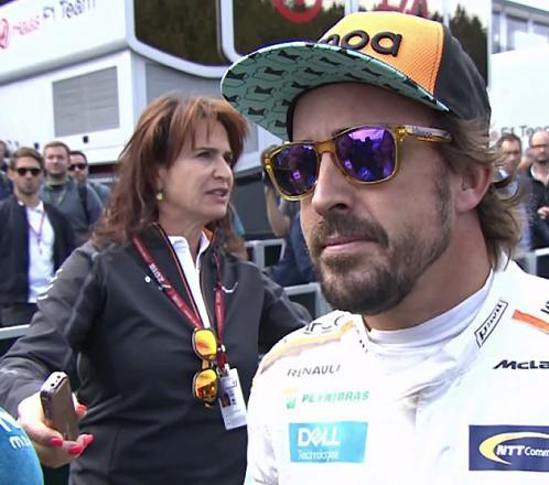 La frustración de Fernando Alonso