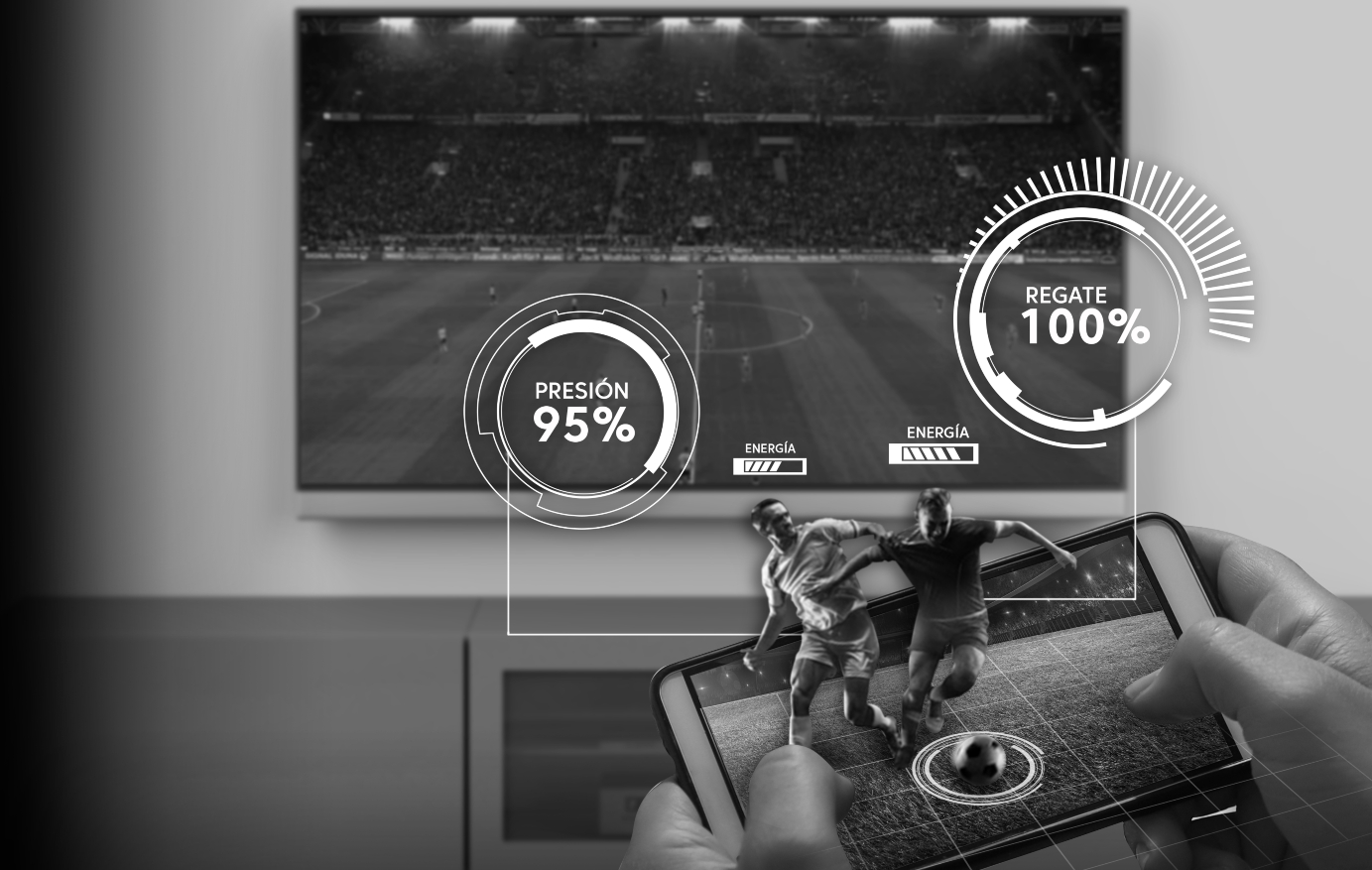 Así será el fútbol del futuro desde casa: a la carta y en realidad aumentada