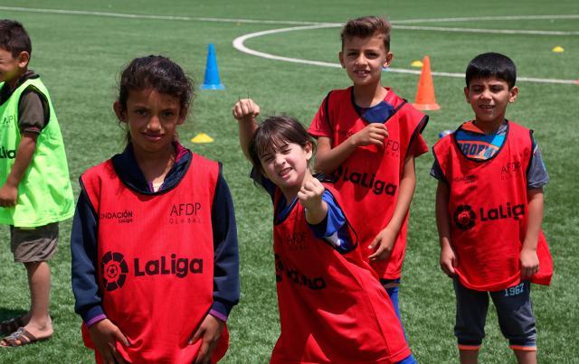 La importancia del fútbol en la vida de los refugiados sirios de Za'atari