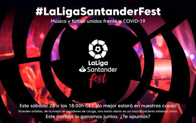 La música y el fútbol se unen en 'LaLigaSantander Fest' para hacer frente al COVID-19