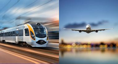 Tren o avión, ¿cuál es el precio de contaminar menos?