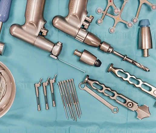 Instrumental de un cirujano ortopédico