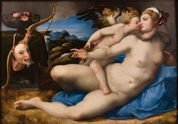 Venus besada por Cupido, Miguel Angel