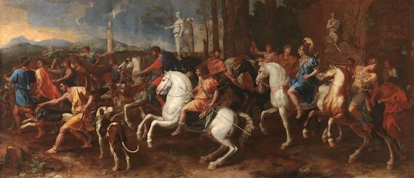 La caza de Meleagro, Poussin