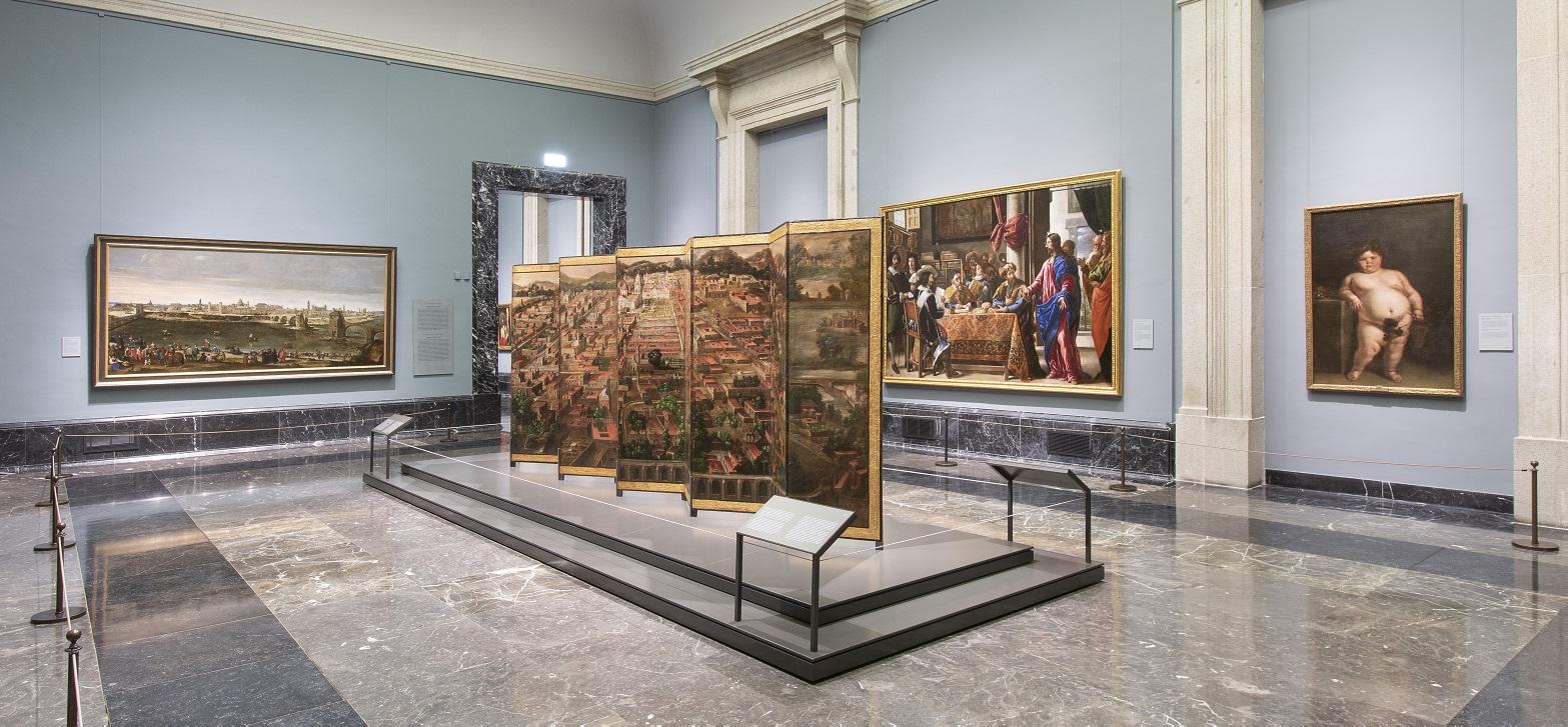 El Prado expone Biombo de la Conquista de México y La muy noble y leal ciudad de México