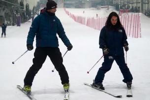 Esquí para principiantes: ejercicios básicos